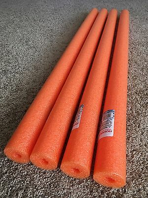 Lot 4x Orange Noodles Swimming Pool Noodle therapy water floating foam craft](Pool Noodle Crafts)