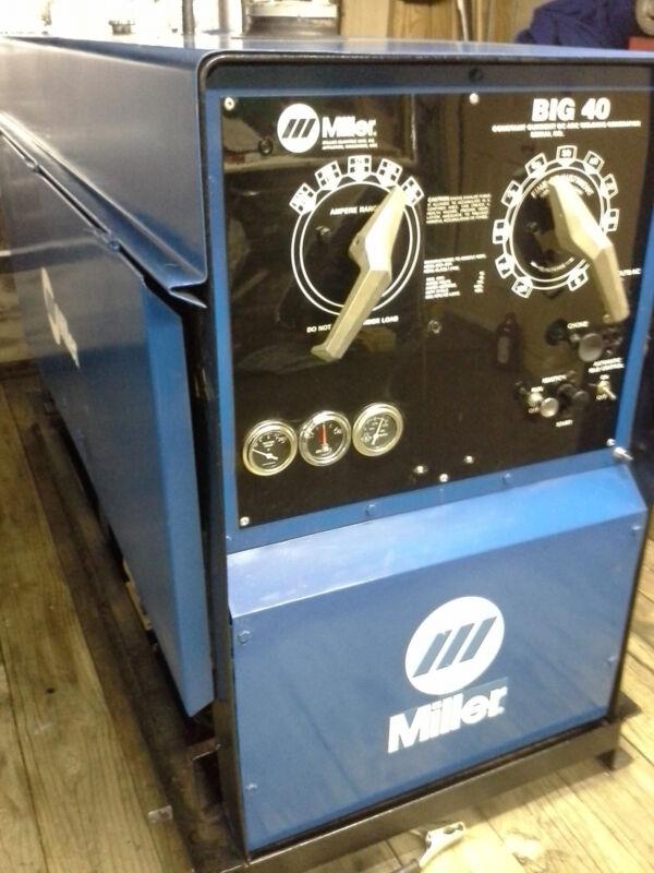 MILLER BIG 40 GAS WELDER control plate, face-plate made from 18ga. Aluminum