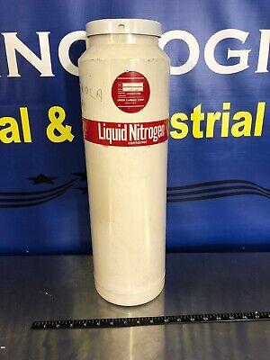 Union Carbide Liquid Nitrogen Dewar Type Uc-5 Tested With Liquid Nitrogen Works