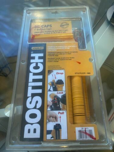Lot of 2 Packages Bostitch SB-CAPS 1000 Pack Cap (2000 total)