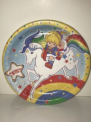 Rainbow Brite Horse Luncheon Paper Party Express Plates (8 Count) 8 3/4 - Horse Paper Plates