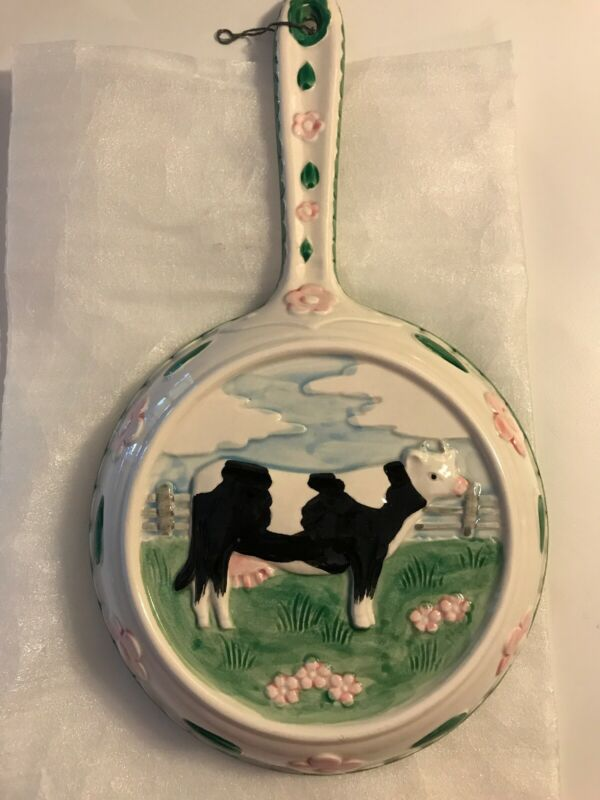 Vintage Ceramic Cow Wall Plaque -Brand is Sigma the tastesetter