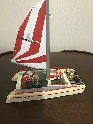 Playmobil Catamaran Boat Figures