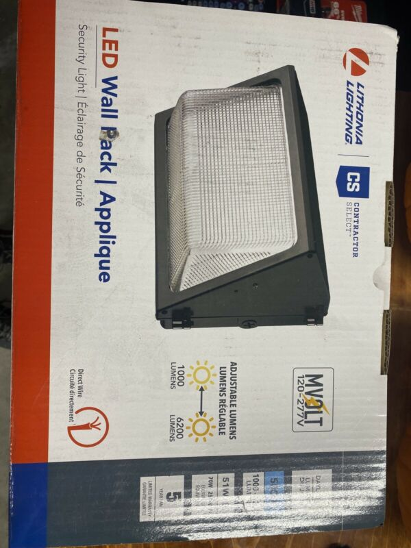 NEW FACTORY BOXED Lithonia Lighting TWR1 LED ALO 50K MVOLT DDBTXD LED Wall Pack