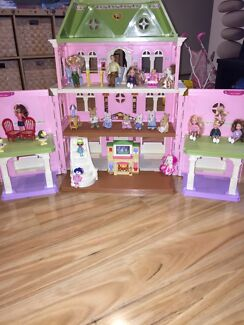 Fisher price grand doll house with furnitures, overseas moving sale  Docklands Melbourne City Preview