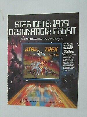 """ca 1979 BALLY """" STAR TREK """" PINBALL MACHINE AD"""