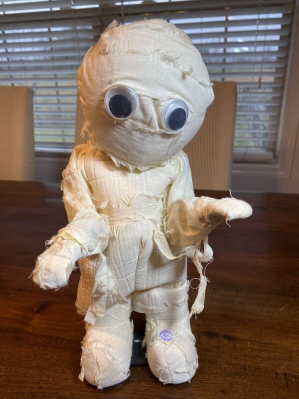 Vintage Gemmy Animated Mummy Thriller Music Doesnt Move But Plays Music Rare