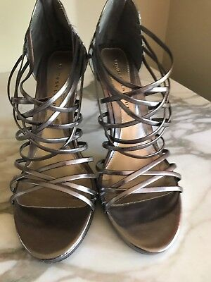 Chinese Laundry Open Toe Pumps (Chinese Laundry Pewter Strappy Open Toe High Heel Sandals Pumps 11M )