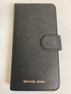 Michael Kors Folio Phone Case IPhone 7 Plus 8 Plus Black Wallet Style - See Pics