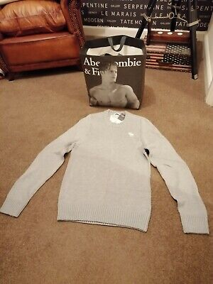 ABERCROMBIE AND FITCH, A&F, NEW Men's Grey Muscle Fit Jumper , 'XL'...
