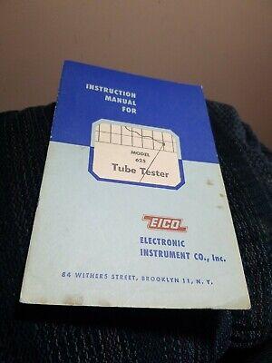 Vintage Eico Tube Tester Model 625 - Instruction Manual