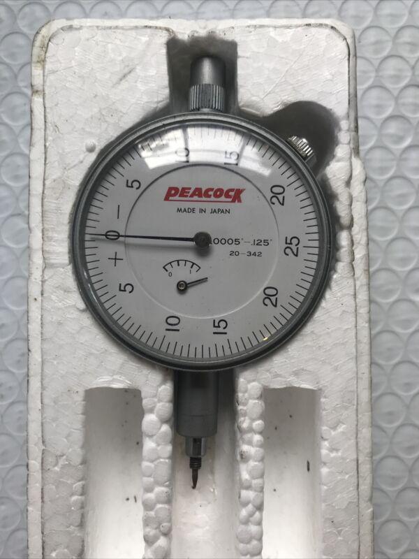 Peacock model 20-342 jewelled dial  gauge. 0.0005-.125
