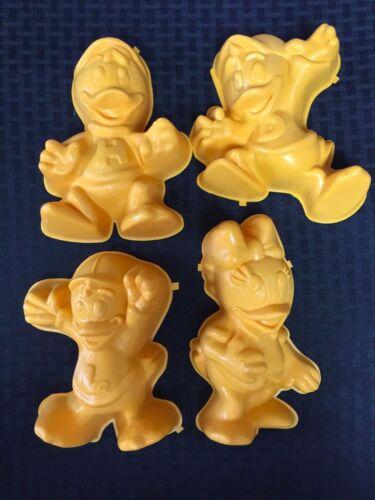 Disney Duck Tales Set of 4 Jello Molds Huey Dewey Louie Webiggail