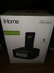iHome iPL8 Stereo FM Clock Radio w/ Lightning Dock 4 iPhone/iPod - original box