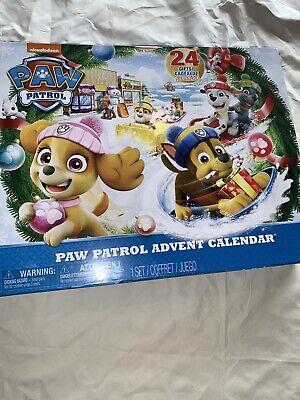 Paw Patrol Advent Calendar Christmas 24 Toy Figures Kids 2018 Nickelodeon New