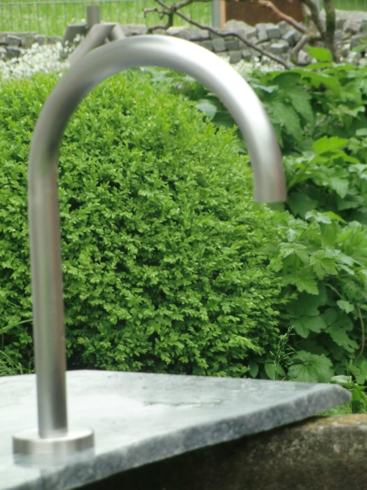 Wasserauslauf Brunnen.Brunnenbogen Wasserauslauf Brunnen Einlauf Schwanenhals Wasserspeier Edelstahl