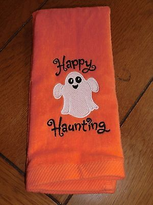 Embroidered Finger Tip Towel - Halloween - Happy Haunting