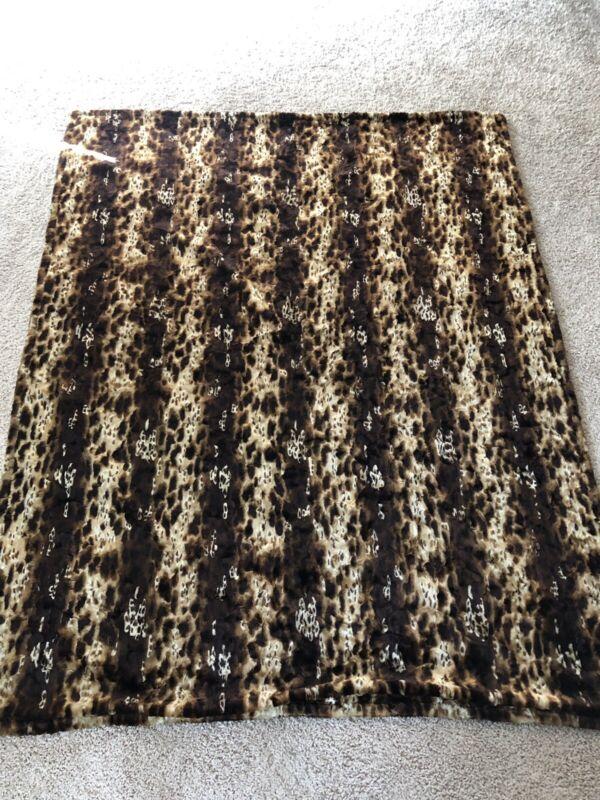 Vintage CHASE Mohair Horsehair Carriage Buggy Lap Sleigh Blanket Cheetah Print