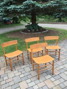 4 mid century modern dining chairs