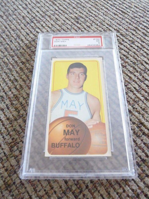 Don May 1970 Topps Tall Boy #152 Basketball Card PSA Graded Slabbed EX 5