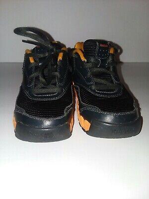 Reebok Size 9 Childrens Mini Zigactivate Black & Orange Running Tennis Shoes (Reebok Mini)