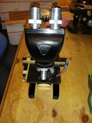 Vintage Bausch Lomb Reflected And Transmitted Light Microscope
