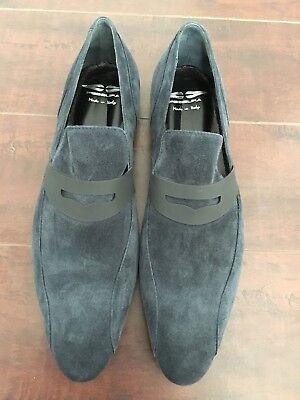 BNIB FESSURA Men's Blue Suede Loafers – US 11-D, UK - 44