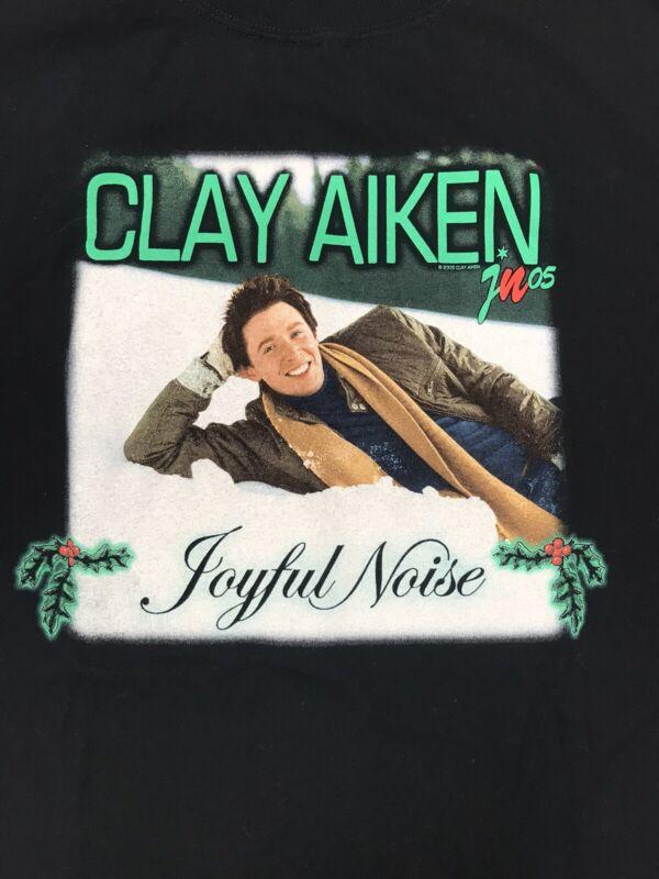 CLAY AIKEN JOYFUL NOISE 2005 TOUR CONCERT TEE SHIRT SIZE 2XL