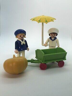 Playmobil Vintage Children With Pumpkin Truck Set For 5300 Victorian Mansion