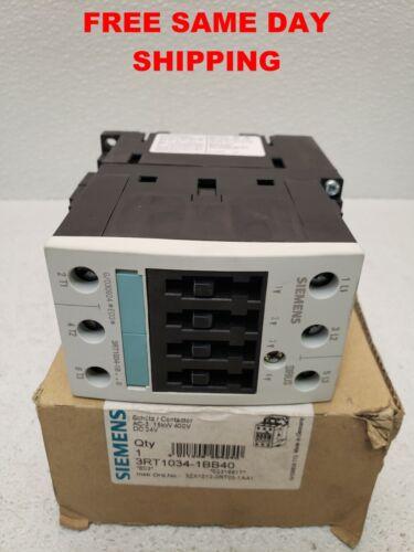 SIEMENS CONTACTOR 3RT1034-1BB40 ITEM 748122-C4