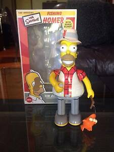 The Simpsons Fishing Homer Tin Action Toy with Bonus Blinky West Footscray Maribyrnong Area Preview