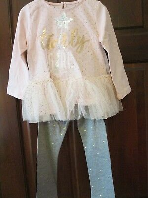 Mud Pie Sequin Girl Tunic and Legging Set, Size 24M/2T, NWT