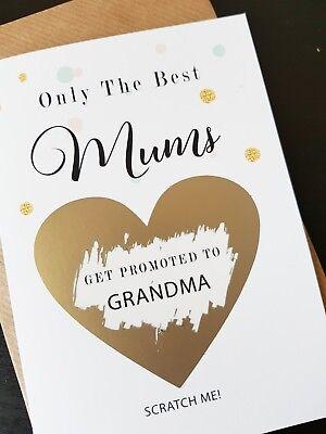 Pregnancy announcement card for mum mom get promoted to grandma nana reveal  - Funny Grandma Cards