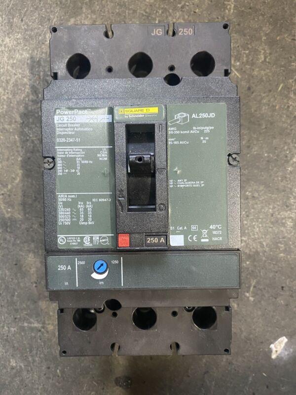 Square D PowerPact 250amp Shunt Trip Breaker AL250JD