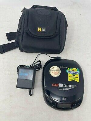 Sony Car Discman ESP D-835K Digital Mega Bass CD Player w/ AC Charger WORKS!