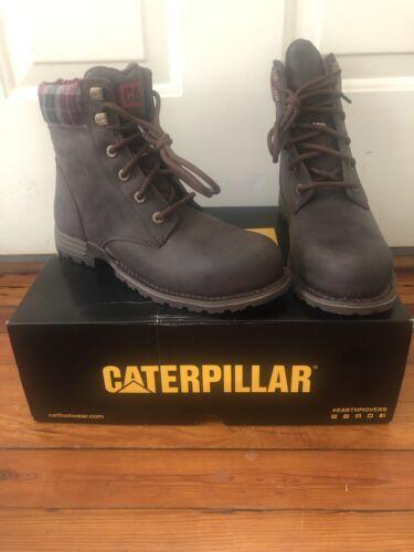 Caterpillar Women's Kenzie Steel Toe Work Boot, Bark, 6.5 M