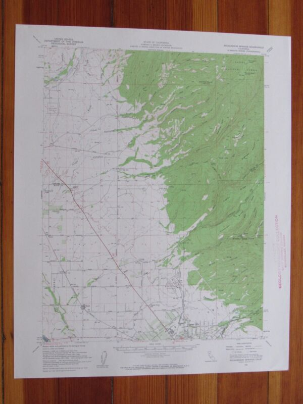 Richardson Springs California 1959 Original Vintage USGS Topo Map