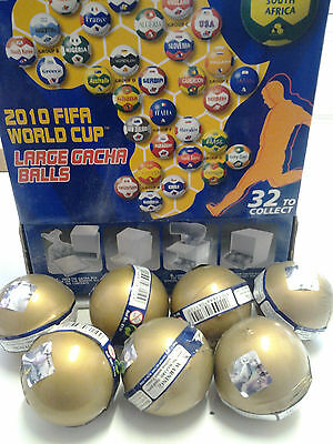 7 x Fifa 2010 World Cup Gacha Balls New and Sealed - Random Selection Surprise