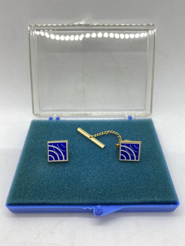 Vintage Satellite Telecommunications Cellular Industry Lapel Pin + Tie Tac s2