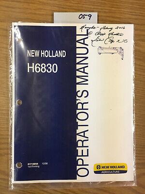 New Holland Parts H-6830 Disc Mower Cutter Catalog Operators Manual 059