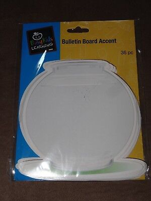 Busy Kids Learning Fish Bowl Bulletin Board Accents-36 Piece-New