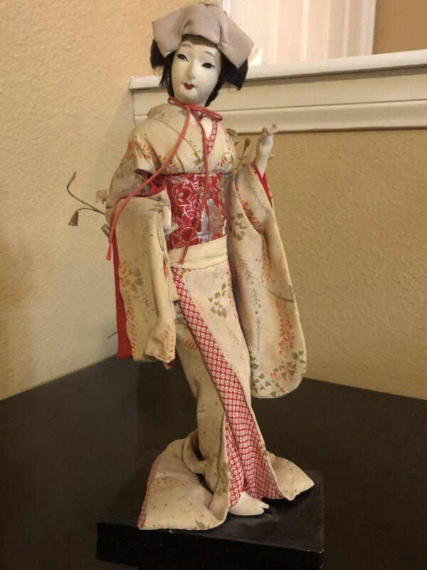 Antique Japanese Geisha Doll Circa 1930
