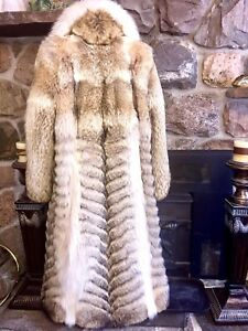 Coyote fur coat for woman