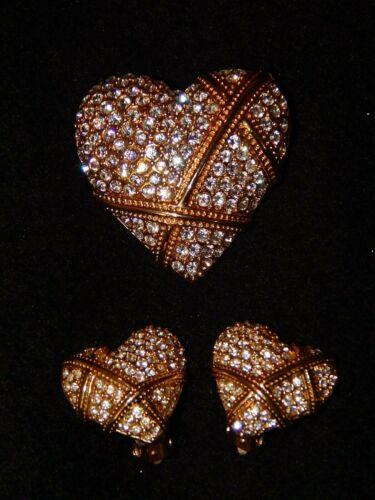 DAR  Legacy Of Love Pin Patriot Pin/Pendant & Clip Earrings Set - Rare & Retired
