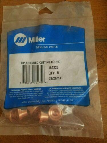 Miller 169226 Tip, Shielded Cutting U-ICE-100, Qty.5