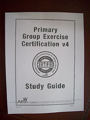 "AFAA /APEX ""Primary Group Exercise Certification v4"" completed Study Guide"