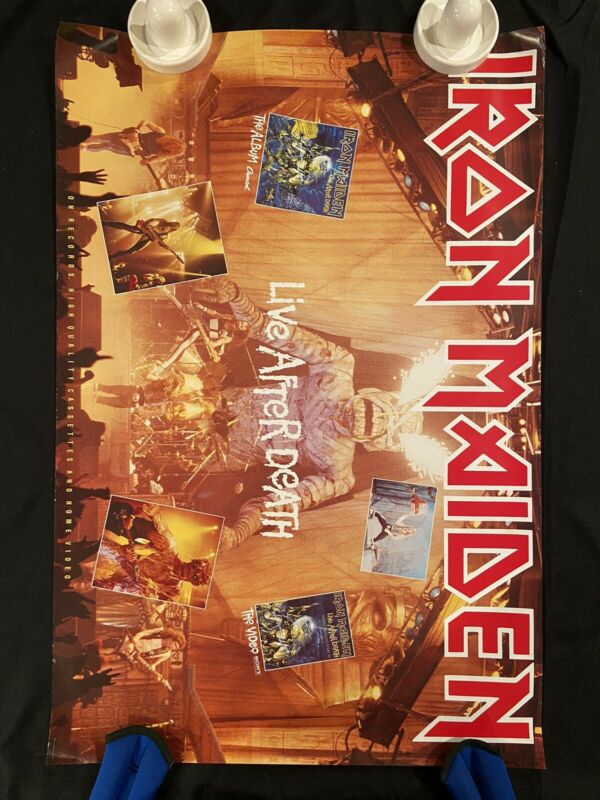 IRON MAIDEN Poster Original Vintage 24 X 36 In.  Record Store. Bruce Dickinson
