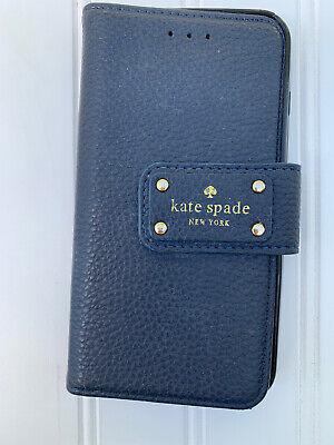 Kate Spade New York Navy Blue Wrap Folio iPhone 8 Plus Wallet Case