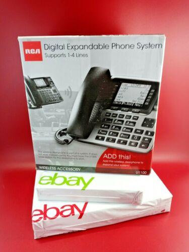 RCA U1100 4-Line Wireless Desk Wall Phone Call ID/ Compatible U1000 Base Station
