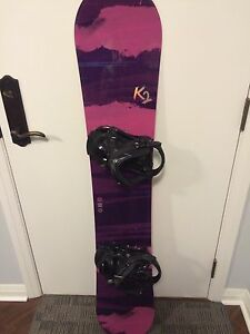 Women's snowboard with bindings and boots